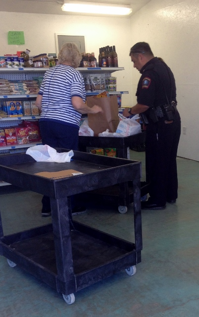 Officer Sanchez Working at the Grandview Food Bank